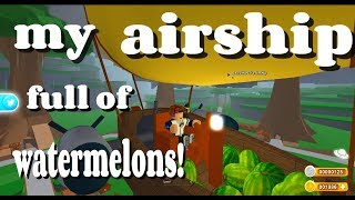 My Airship Full Of Watermelons In Treelands! ROBLOX