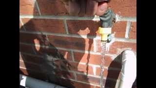 How to turn an outside tap on and off