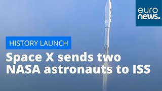 This is the first time a private company launches a manned flight to the International Space Station  READ MORE : https://www.euronews.com/2020/05/27/historic-launch-today-space-x-sends-two-nasa-astronauts-to-iss  Subscribe to our channel: https://www.youtube.com/c/euronews?sub_confirmation=1 Watch our LIVE here: https://www.youtube.com/c/euronews/live  Subscribe to our thematic channels: NoComment: https://www.youtube.com/c/nocommenttv?sub_confirmation=1 Euronews Living: http://bit.ly/2sMsaDB Knowledge: https://www.youtube.com/c/euronewsknowledge?sub_confirmation=1  Euronews is available on YouTube in 12 languages: https://www.youtube.com/user/euronewsnetwork/channels  #WebDigitalStories