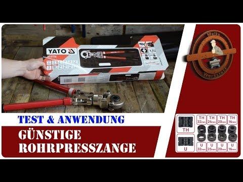 Presszange Mehrschichtverbundrohr Alu Verbundrohr verpessen (Anwendung)