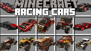 Minecraft RACING CAR MOD / DRIVE AROUND IN SUPER FAST CARS AND SURVIVE!! Minecraft