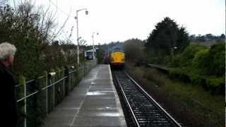 preview picture of video 'Class 37 at Polsloe Bridge Exeter 10/02/2013'