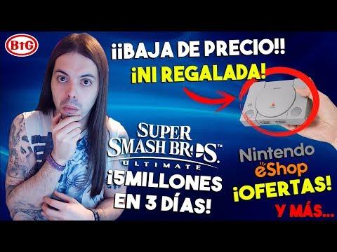 ¡PLAYSTATION Mini REBAJADA! ¿WTF? | ¡600 JUEGOS en OFERTA en LA ESHOP! | ¡SMASH 5 MILLONES = 3 DÍAS!