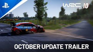 PlayStation WRC 10 - October Update Trailer | PS5, PS4 anuncio