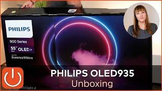"""Unboxing Philips 55OLED935/12 Thomas Electronic Online Shop OLED 55"""" 2020 935-Serie OLED 4K TV"""