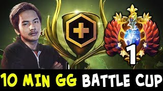 10 min GG — InYourDream TOP-1 RANK in Dota on Battle Cup