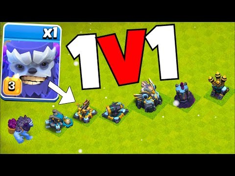 "ALL weapons vs. YETI!! ""Clash Of Clans"" Weakness & Strength!!"