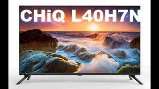 TV Chiq L40H7N Smart-TV Android Erstinstallation, Sender programmieren, ordnen.