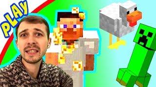 ПРоХоДиМеЦ Разводит КУРОЧЕК и Делает ОГОРОД для СТИВА! #22 Игра для Детей - Майнкрафт