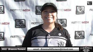 2022 Breanna Romero Pitcher Softball Skills Video - Athletics Mercado 2K3