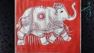 Easy To Draw The Ornate Elephant || Kalamkari Painting || Indian Folk Art