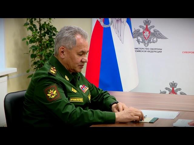 Министр обороны РФ Сергей Шойгу посетил Тверь с рабочим визитом