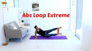 Abs Core Workout Resistance Band - BARLATES BODY BLITZ Abs Loop Extreme with Linda Wooldridge