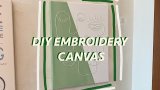 Embroidery And Painting Canvas DIY (step By Step)