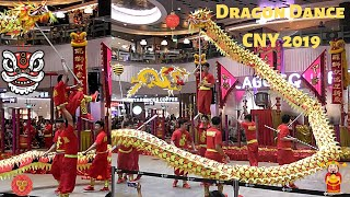 CNY 2019 -  Exciting Dragon Dance Performance At Waterway Point, Singapore | Must Watch [Video 2]