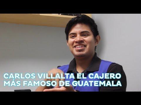 Carlos Villalta, el cajero más famoso de Guatemala