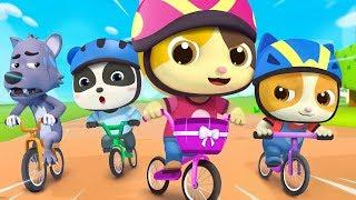 Bayi Kucing Timi & Mimi Balapan Sepeda | Lagu Anak-anak | BabyBus Bahasa Indonesia