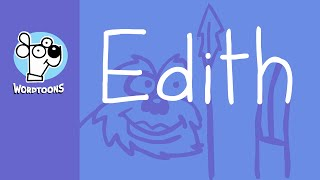 The Name Edith Into A Cartoon -  Nametoon Edith
