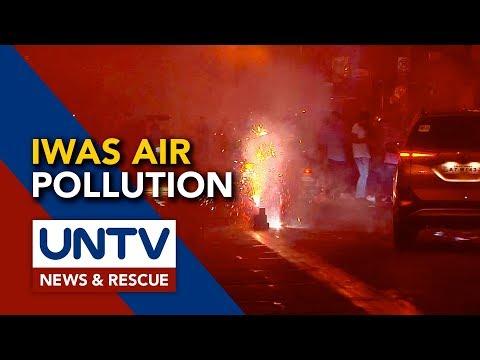 [UNTV]  DENR, ipinayo ang pagsusuot ng face mask dahil sa polusyon sa hangin dulot ng paputok