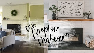 DIY Painted Brick Fireplace Makeover | How To Paint Brick
