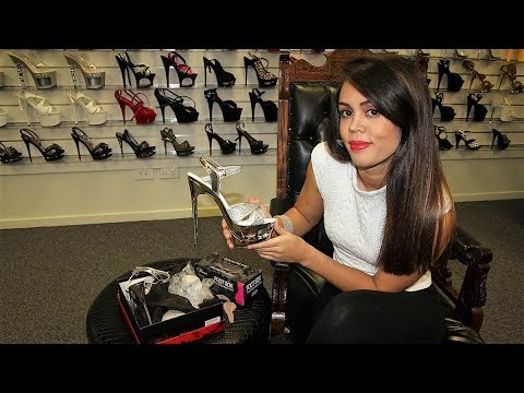 Review Pleaser Eclipse 619 G Silver Glitter 6.5 Inch Stiletto High Heels