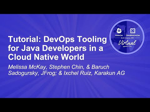 Image thumbnail for talk Tutorial: DevOps Tooling for Java Developers in a Cloud Native World