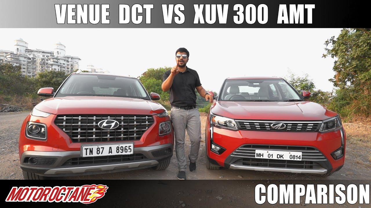 Motoroctane Youtube Video - Hyundai Venue DCT vs Mahindra XUV300 AMT Comparison | Hindi | MotorOctane
