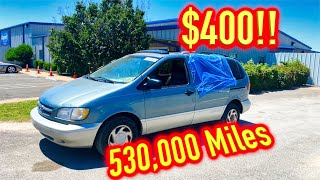 I Bought a Toyota Sienna with 530,000 Miles from Copart for $400!!! Drive it Home?? YES!!