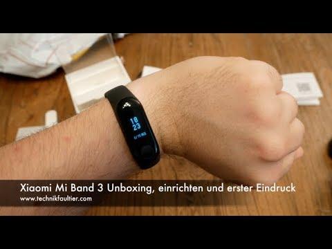 Xiaomi Mi Band 3 Unboxing, einrichten und erster Eindruck