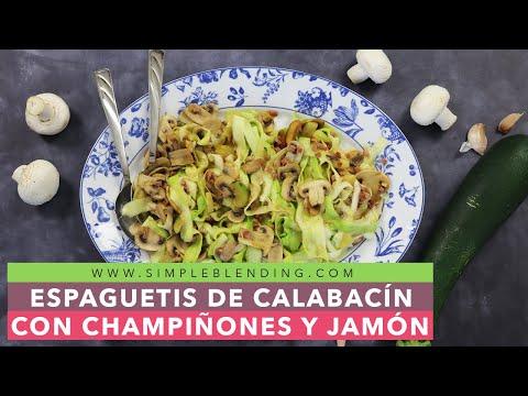 Receta de espaguetis de calabacín | Receta fácil | Plato saludable