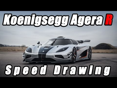 Koenigsegg Agera R - Speed Drawing (Need For Speed)