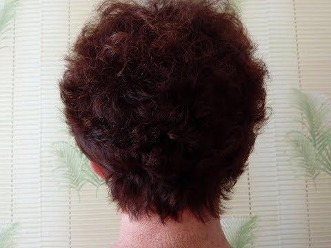 Стрижка на вьющиеся волосы 60+