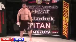 Чеченец  выграл  бой за  30 сек