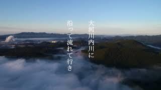 東郷~川内市街地付近の霧をドローン撮影