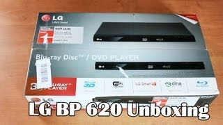 LG BP620 Blu-ray Player Unboxing