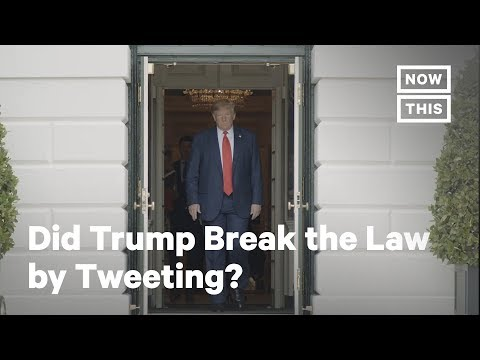 Did Trump Break the Law During the Impeachment Hearing? | NowThis