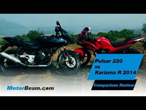 Pulsar 220 vs Karizma R 2014 - Comparison Review | MotorBeam