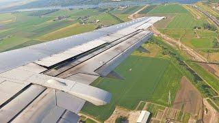 Beautiful Approach Amsterdam Schiphol British Airways Boeing 737-400 Landing [1080p HD]