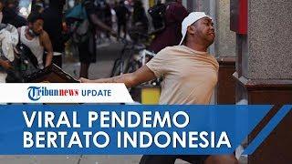 Viral Foto Pria Ikut Demo atas Kematian George Floyd, Ada Tato Peta Indonesia di Lengannya