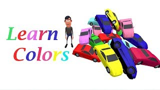 Learn Colors for Children with Amazing Color Cars - most Learning Videos - Colours for Kids to Learn