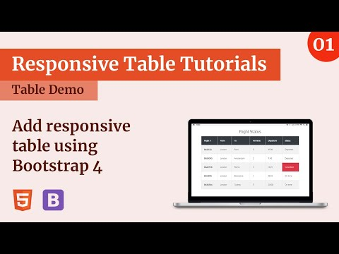 Responsive table using Bootstrap 4