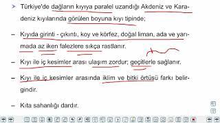 Eğitim Vadisi 10.Sınıf Coğrafya 5.Föy Türkiye'de Dış Kuvvetlerin Oluşturduğu Yer Şekilleri 2 Konu Anlatım Videoları