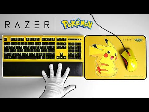 【ASMR】皮卡丘聯名雷蛇限定鍵盤滑鼠開箱
