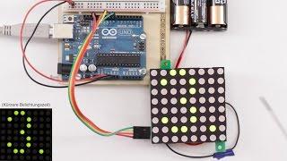 Custom 88 matrix with MAX7219 and Arduino