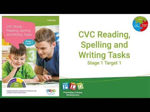 CVC Reading, Spelling and Writing Worksheets
