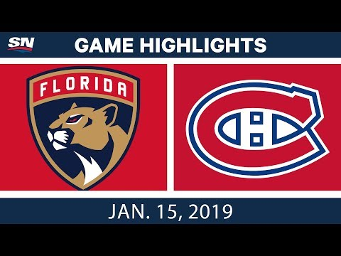 NHL Highlights | Panthers vs. Canadiens - Jan. 15, 2019