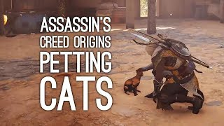 Assassin's Creed Origins Gameplay: PETTING CATS! (Let's Play Assassin's Creed Origins)