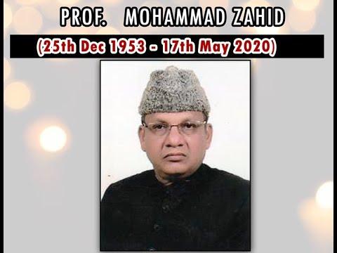 Prof. Mohd. Zahid Sb. I Urdu Department, AMU I Life & Works I Tribute from Sabrahadi