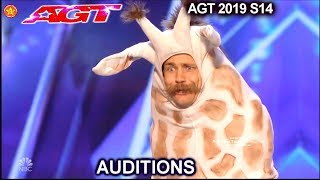 Sethward  From Season 13 NOW HE IS A GIRAFFE| America's Got Talent 2019 Audition