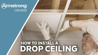 How To Install A Drop Ceiling | Armstrong Ceilings For The Home